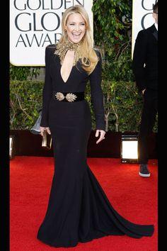 Best Dressed - hands down!! Kate Hudson x Alexander Mc Queen Golden Globes 2013