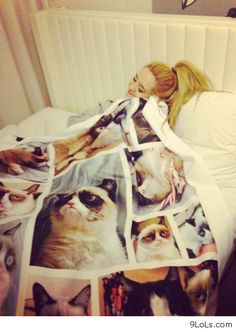 Grumpy Blanket. I want this so much!