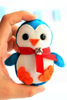 Baby penguin Christmas ornament sewing pattern