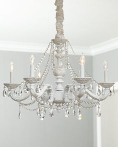 """White """"Abbi"""" Chandelier at Horchow."""