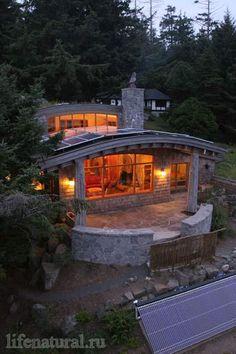 экологичная архитектура дом коттедж стиль эко