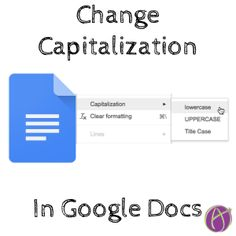 Change the capitalization in a Google Doc by using the format menu. Choose from lower case, upper case, or title case. Select