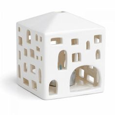 Urbania ceramic lighthouse by Clay Houses, Ceramic Houses, Small Tea, Little Houses, Small Houses, House Roof, Crafty Craft, Porcelain Ceramics, Tea Light Holder