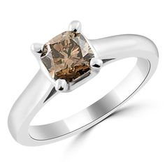 Jewelry Point - 1.07ct Champagne Brown Diamond Solitaire Engagement Ring, $2,100.00 (http://www.jewelrypoint.com/1-07ct-champagne-brown-diamond-solitaire-engagement-ring/)