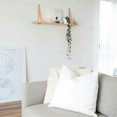 Image of 60cm Leather Strap Shelf