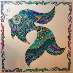 Johanna Basford's Lost Ocean colored by Teresa Dodd