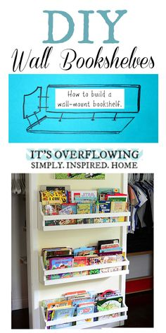 Easy DIY -- How to Build a Wall Mount Bookshelf!!!
