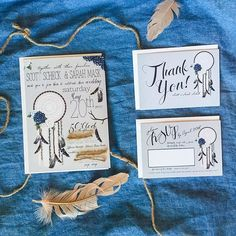⋆★⋆ This Lovely Couple Changed The Pre-Made Rustic Country Wedding Invitation Package w. Navy Blue! 💍 premium quality printing services are available ⋆★⋆ #OnTheFly #OnTheFlyDesigns #Invitations #RusticWedding #Love #GraphicDesign #Design #Graphics #Artwork #Logos #DigitalArt #Branding #SmallBusiness #Follow #Handmade #Stationary #DreamCatcher #Rustic #RVSPCards #ThankYouCards #WeddingInvitation