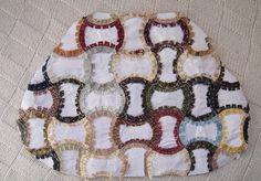 Las creaciones de mi vida: Bolso con aire vintage, en patchwork