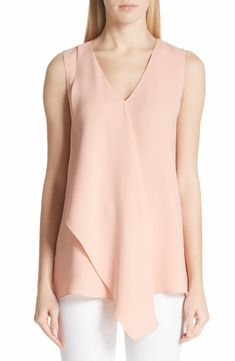 Main Image - Lafayette 148 New York Cooper Double Silk Georgete Blouse Special Dresses, Silk Top, Sleeveless Blouse, Blouse Designs, Tunic Tops, Lafayette 148, Clothes For Women, Fashion Design, York