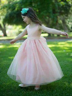 Blush Flower Girl Dresses 1