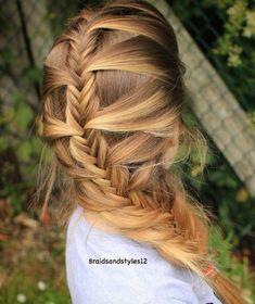 messy dutch fishtail braid