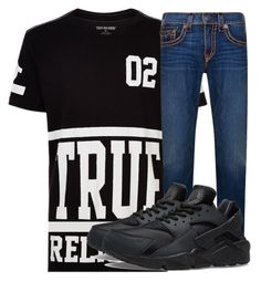 """""""Corey made it"""" by princessjay003 on Polyvore featuring True Religion, NIKE, men's fashion and menswear"""