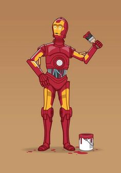 #ironman #starwars #geek #funny #creative #nerd #paint #cool