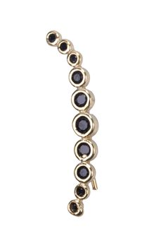 Amazon.com: Simply Love 'Gold Circles With Black Zircon' Climbing Earing Studs 12k-14k Micron Goldfield Climber Ear (one piece) (Gold Circles With Black Zircon): Jewelry