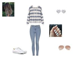 """""""Beach"""" by missyt123 ❤ liked on Polyvore featuring Topshop, Converse and H&M"""