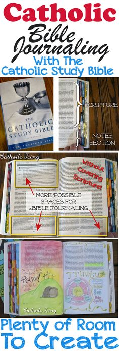 Finally- an option for Catholic to Bible Journal! The Catholic Study Bible has plenty of room for journaling, and is the first affordable option for Catholics. Check out how to do it here.