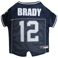 NFLPA PET JERSEY. - Football Licensed Dog Jersey. - 6 Team Players Available. - Comes in 5 Sizes. - Football Pet Jersey. - Sports Mesh Jersey. - NFLPA Dog Jersey Outfit. - NFL Jersey. - NFL Pet Jersey. - NFL Dog Jersey Tom Brady Medium