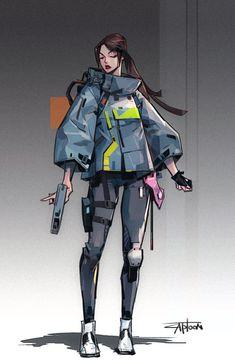 of animation art Online painting futurism fi fi environment fiction art Female Character Design, Character Design References, Character Drawing, Character Design Inspiration, Character Illustration, Character Concept, Space Character, Illustration Art, Cyberpunk Kunst