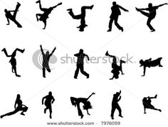 """Hip Hop Dance Silhouettes- add a verse, possibly for a homemade """"shrinky dink"""" pendant Dance Silhouette, Silhouette Vector, Hip Hop Watches, Dance Crafts, Dancing Drawings, Dance Like No One Is Watching, Hip Hop Art, Vacation Bible School, Street Dance"""