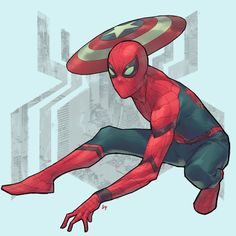 Hey everyone! by Bryan Valenza #Spiderman #newcostume #captainamericacivilwar #civilwar