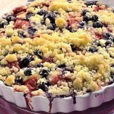 Recept: Jogurtový koláč s ovocem a drobenkou   iGurmet.cz Sweet Recipes, Macaroni And Cheese, Recipies, Muffin, Food And Drink, Cooking Recipes, Yummy Food, Sweets, Baking