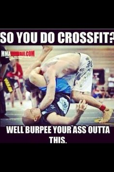 Hahaahah,I do also love crossfit too not as much as my kickboxing though