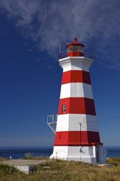 Brier Island Lighthouse along the coastal shores of Nova Scotia, Canada