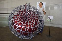 #sculpture#jeon yong hwan#apple#space-from the one