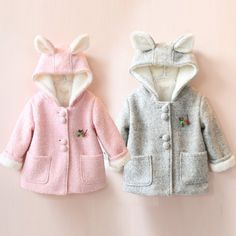ec8088eb8 Baby Rabbit Coat Girls Plus Velvet Thickening Outerwear,High Quality coat  bed,China coat