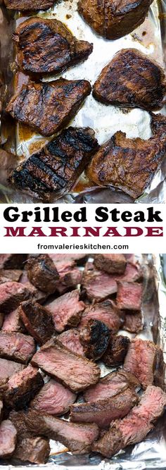 This four ingredient Grilled Steak Marinade is packed with classic BBQ flavor. A wonderful choice for summer parties. Pot Roast Brisket, Beef Tenderloin Roast, Pork Roast, Barbacoa, Steak Marinade For Grilling, Tapas, Roast Chicken And Gravy, Spareribs, Smoked Ribs