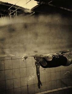 A swimmer at the 1936 Summer Olympics, held in Berlin, Germany. Photograph by Leni Riefenstahl