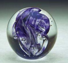 Paperweight - Blown Glass Paperweight - Glass Paperweight. By White Elk