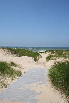 Benton Harbor beach.  Great walk.