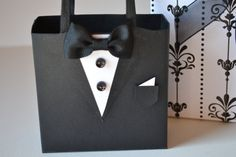 Tuxedo party favor gift bags reserved for Adelina by steppnout, $3.50