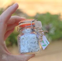 salt with lime and rosemary