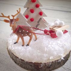 We have to have a sled and snowballs in the kit! #miniatureplasticdeer  #prototype #craftkit #art #kids #startup #fun #nature #christmas #cool #mom #crafty #crafts #crafting #giveaway #mini #deer