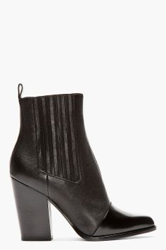 Kenzo Black Leather Paris Texas Kara Boots
