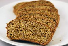 One slice of this bread contains 6.5g of fibre but only 1.8g net carbs, plus 10g of fat and 6g of protein, to a total 152 calories. Psyllium husks, coconut flour, ground flax.   The re...