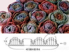 Rosas chinesas - how make.réépinglé par Maurie Daboux ✺❃✿ ღAnother pinner said: Crochet roses. An easy way to learn to read crochet charts.roosjes haken - roses crochetpattern (Bees and Appletrees)Crochet roses, for scarves, sweaters, and Crochet Simple, Crochet Diy, Crochet Gratis, Crochet Amigurumi, Crochet Motifs, Crochet Flower Patterns, Crochet Diagram, Freeform Crochet, Crochet Chart