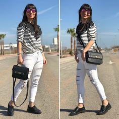 Navy & Puche - Temporada: Primavera-Verano - Tags: look, ootd, navy, oxford, trends - Descripción: Look casual y comodo estilo navy #FashionOlé