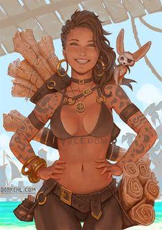 Female Character Design, Character Design Inspiration, Character Concept, Character Art, Dnd Characters, Fantasy Characters, Female Characters, Fantasy Figures, Anime Fantasy