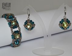 Bonni - World of Beads Free Beading Tutorials, Bling Bling, Swarovski, Jewelry Making, Patterns, Beads, Earrings, How To Make, Inspiration