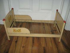 """Amsco Vintage Pressed Metal """"Doll-E-Bunk Beds"""" Antique Original Bed Rare Pressed Metal, Doll Furniture, Bunk Beds, 1950s, Toddler Bed, Dolls, Vintage, The Originals, Antiques"""