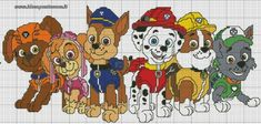 Paw patrol plastic canvas patterns toys figures clothes skye birthday gifts everest toy marshall zuma vehicles games ideas chase truck tracker new slippers rocky pajamas racers rubble ryder sale de… Cross Stitch For Kids, Cross Stitch Baby, Cross Stitch Charts, Cross Stitch Patterns, Paw Patrol, Puppy Patrol, Crochet Pixel, Crochet Cross, Crochet Pattern