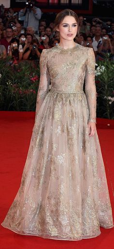 Mama-to-be Keira Knightley in Valentino.