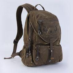 Retro distressed canvas rucksacks | climbing pack for men