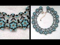 ▶ Beading4perfectionists : Netted necklace, putting the designs together Part 2 of 2 - YouTube