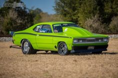 Vinny LaRosa has made racing a huge part of his life and his weapon of choice is a 1971 Duster. Unlike most Mopars you see at the track, this nitrous huffing bad boy is rocking a big-block Chevy under the hood! Dodge Muscle Cars, Custom Muscle Cars, Triumph Motorcycles, Mopar, Ducati, Motocross, Lamborghini, Ferrari 458, Mercedes Benz