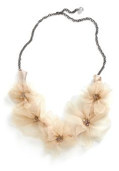 I like this but i wonder if it would feel too light. Like a necklace should have some weight. I just imagine this and some other fabric style ones being too much like a ribbon rather then a chain.